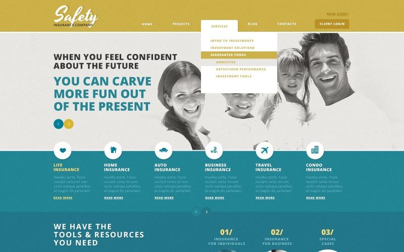 WordPress тема Cherry Insurance