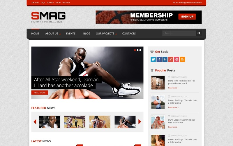 Basketball Blog WordPress Theme