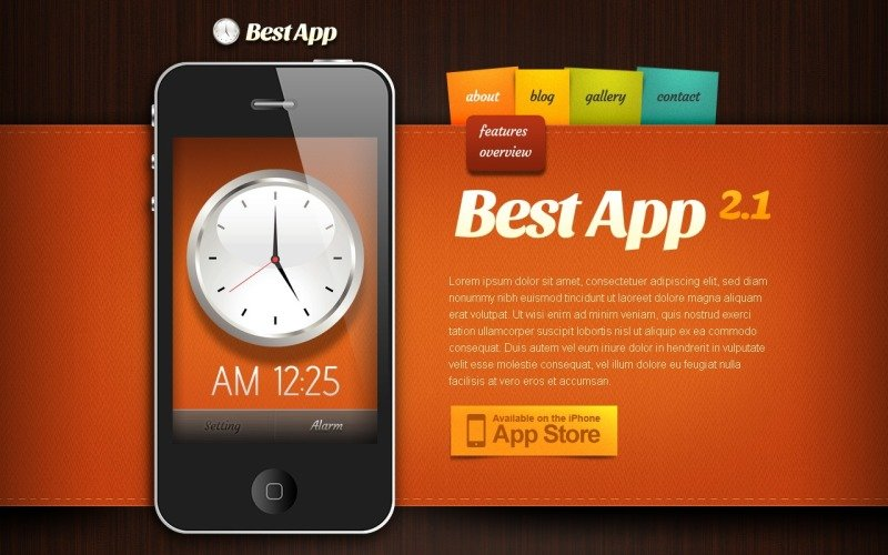 Mobile Apps Drupal Template