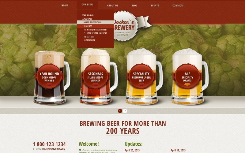 Премиальная тема WordPress для пива