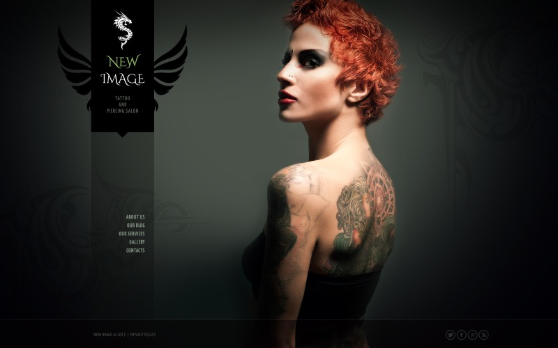 Gorgeous Tattoo Salon Joomla Template