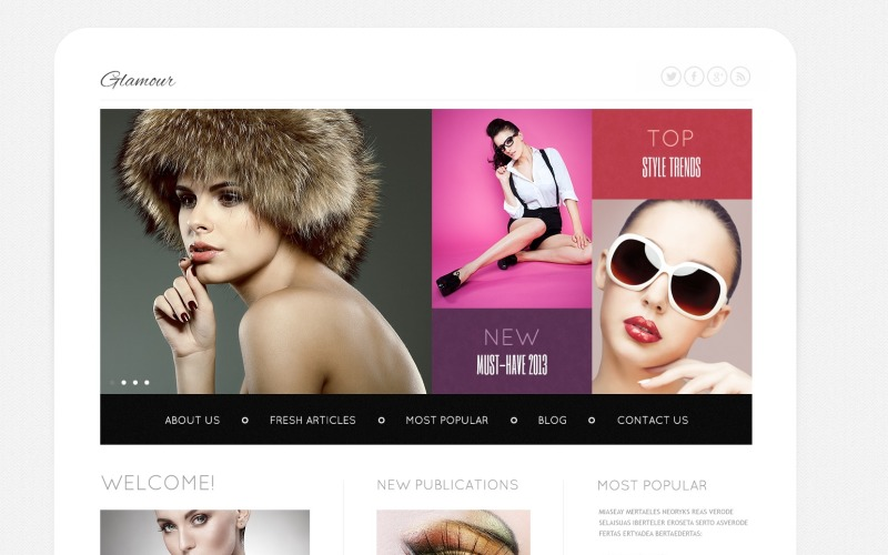 Магазин моди Joomla шаблон