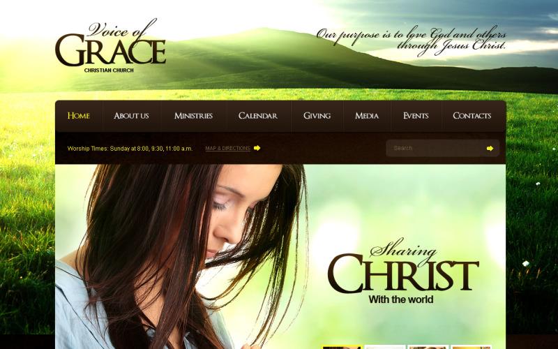 Christian Flash CMS Template