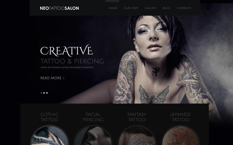 Tattoo & Piercing Salon Joomla Template