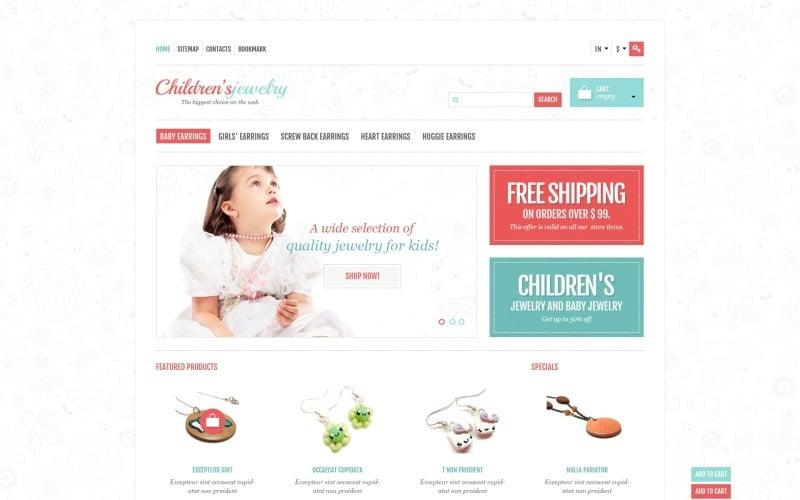 Childrens Jewelry Store PrestaShop Theme