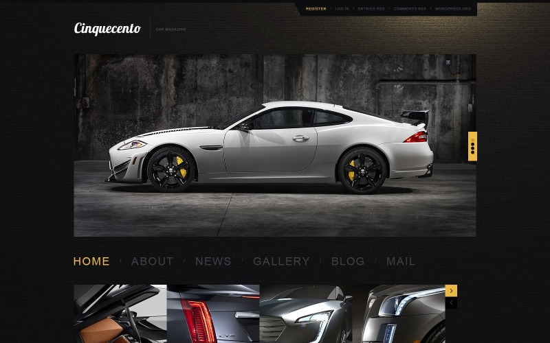 Elegant Car WordPress Theme