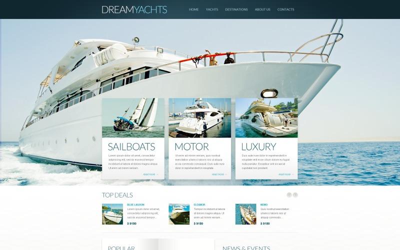 Modèle Drupal de blog de yachting