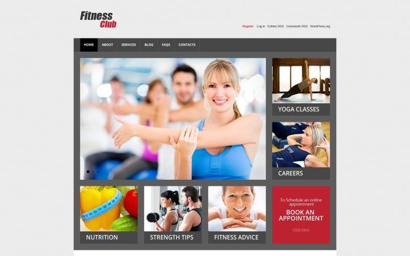 Адаптивный шаблон сайта на тему фитнес #44759
