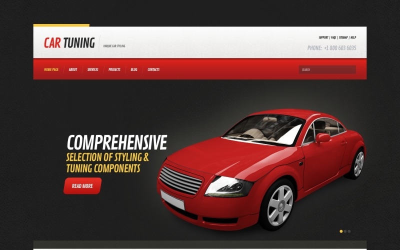 Tema WordPress adaptable para tuning de coches