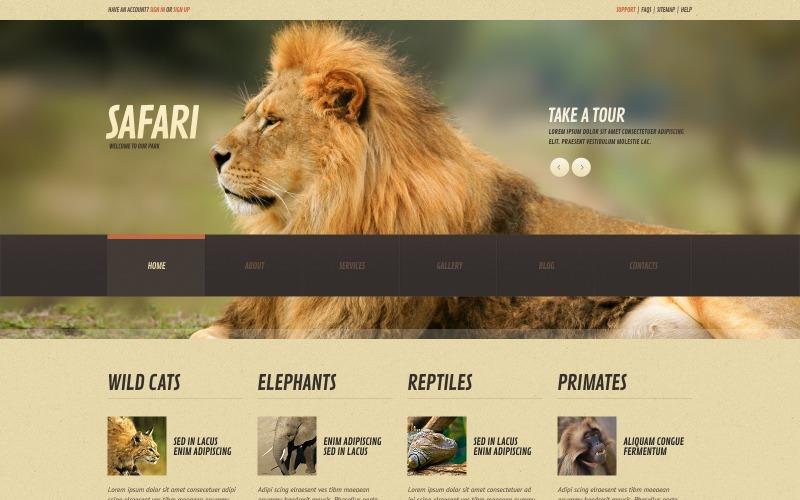 Адаптивна WordPress тема Wild Life