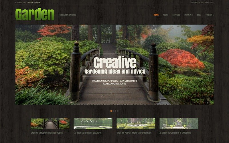 Garden Design Responsive WordPress Theme