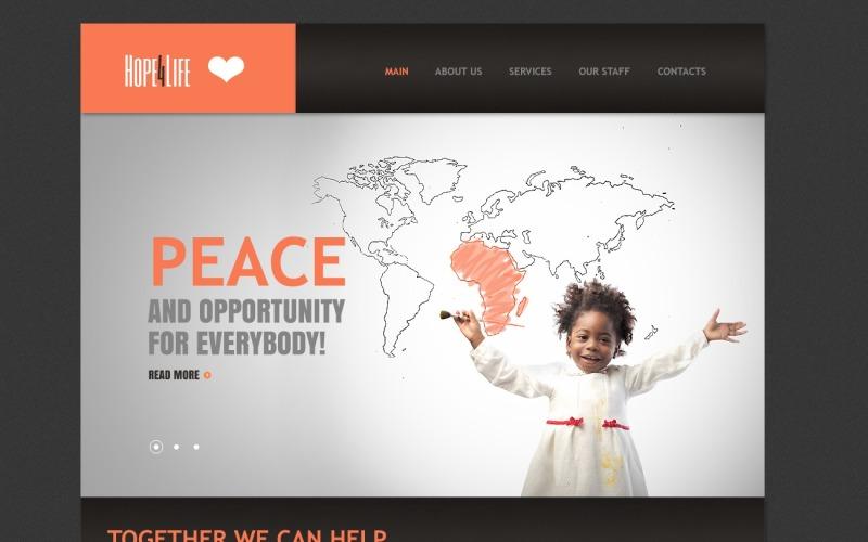 Шаблон Drupal для благотворительной организации