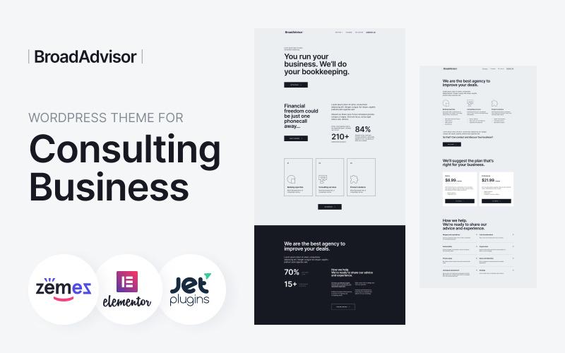 BroadAdvisor - WordPress Theme for Consulting Business