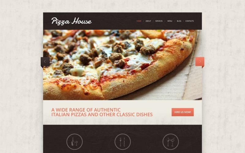 Drupal шаблон Contrast Pizza