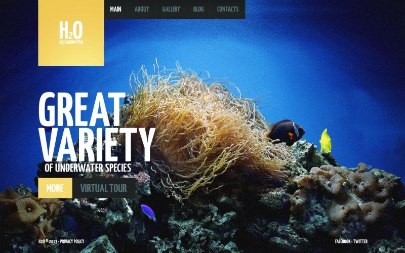 Fish Website Template