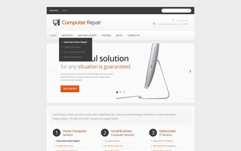 Light Computer Repair Joomla Template