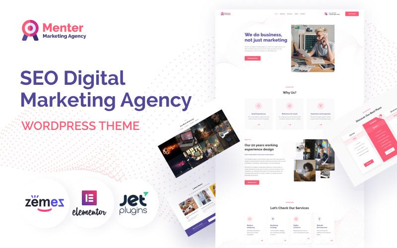 Menter - тема WordPress для агентства цифрового маркетинга SEO
