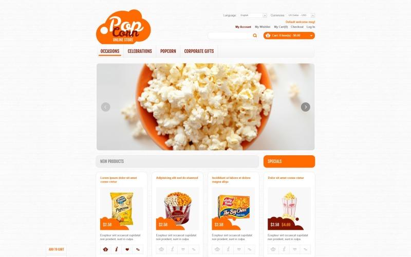 Online Popcorn Store Magento Theme