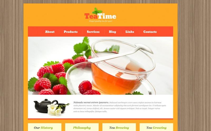 Skeuomorphism Tea Shop WordPress Teması