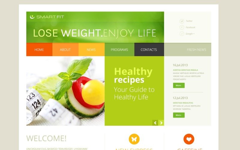 Weigh Loss Program Online Joomla Template