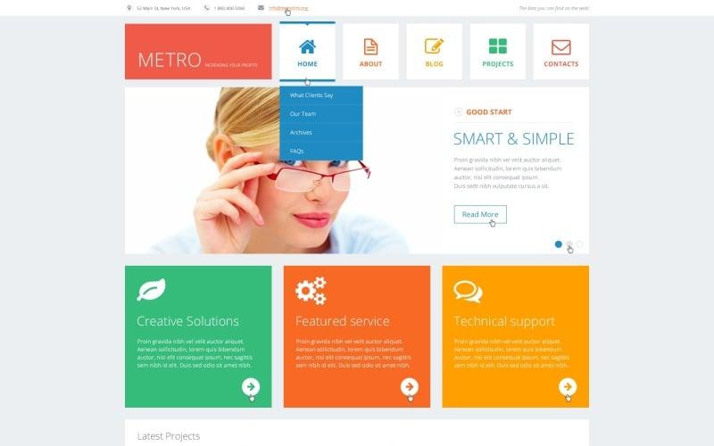WordPress тема Flat Consulting