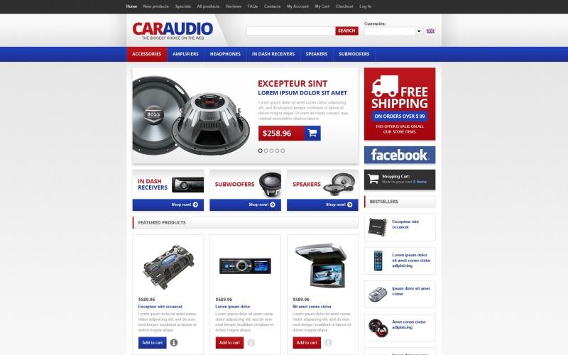 Car Audio ZenCart Template