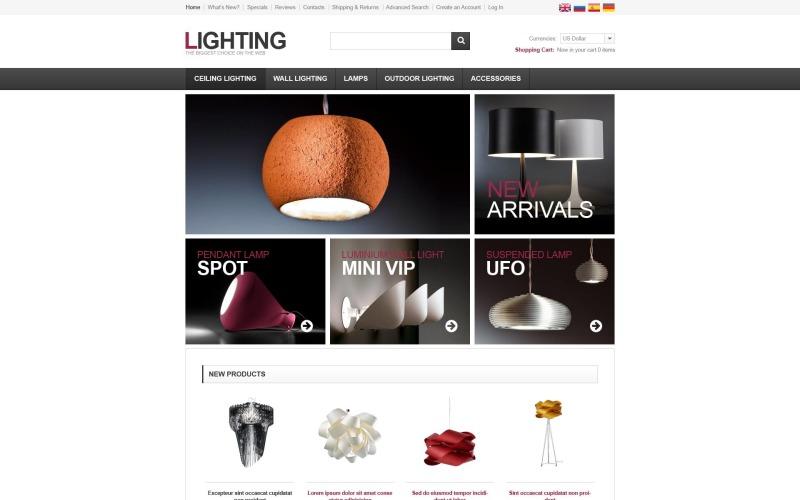 Lighting Solutions OsCommerce Template