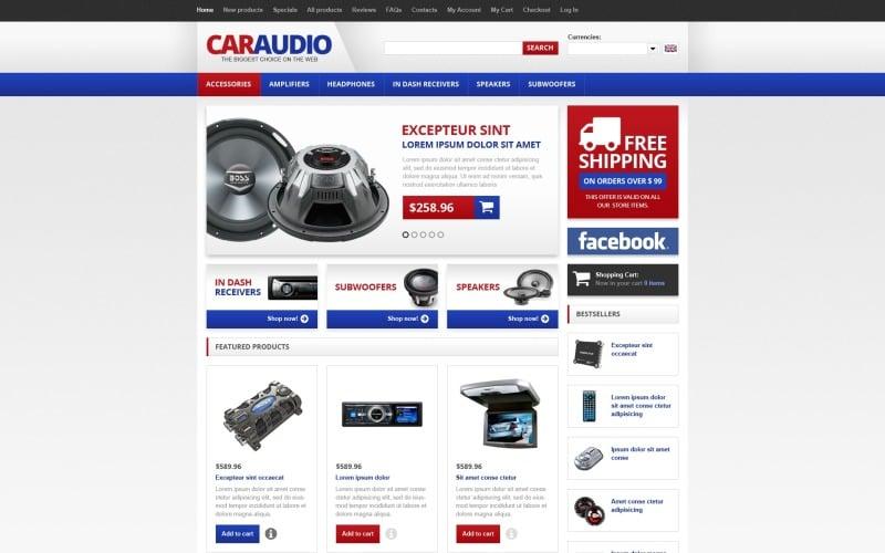 Modèle de voiture audio ZenCart