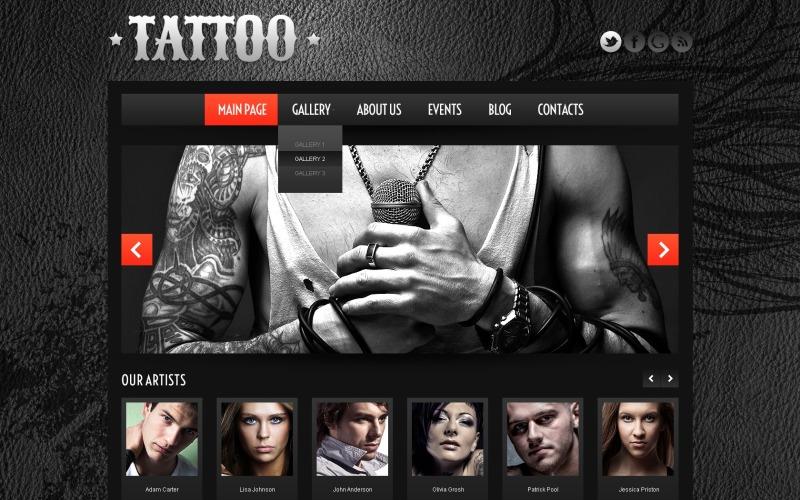 Motyw WordPress Salon tatuażu