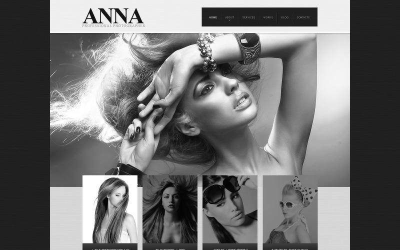 Plantilla de sitio web adaptable para portafolio de fotógrafos