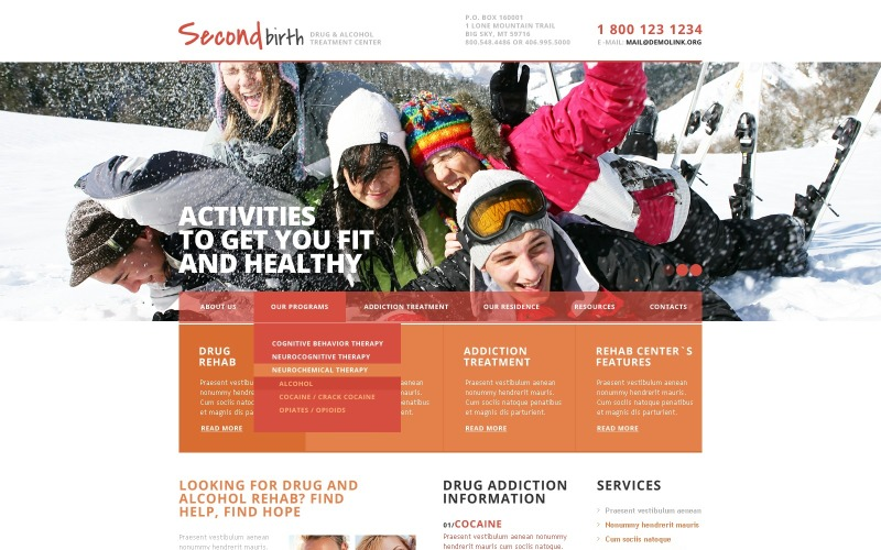 Rehabilitation Responsive Website Template
