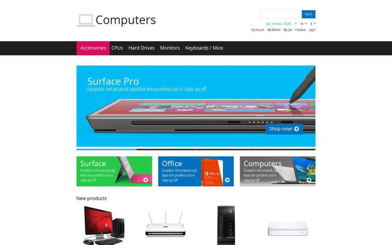 Responsive Computers Store Magento Theme
