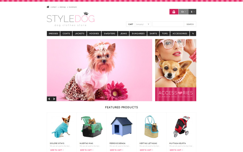Responsive Dog Style Store PrestaShop Theme