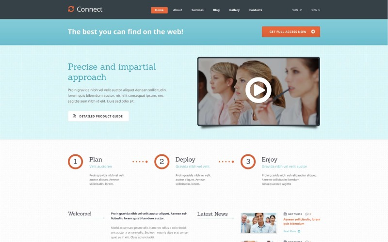 Light Management WordPress Theme
