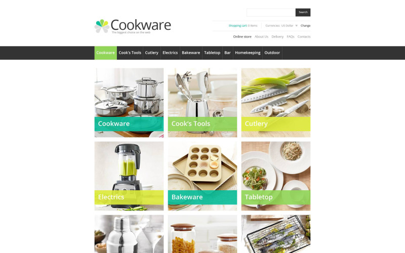 Modelo VirtueMart de ferramentas da Cook