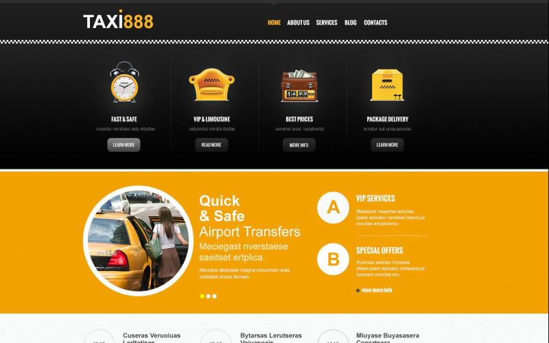 Taxi Services Joomla Template