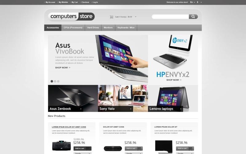 Responsive Computers Store Tema Magento