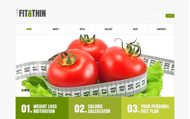 Адаптивная тема WordPress для похудания
