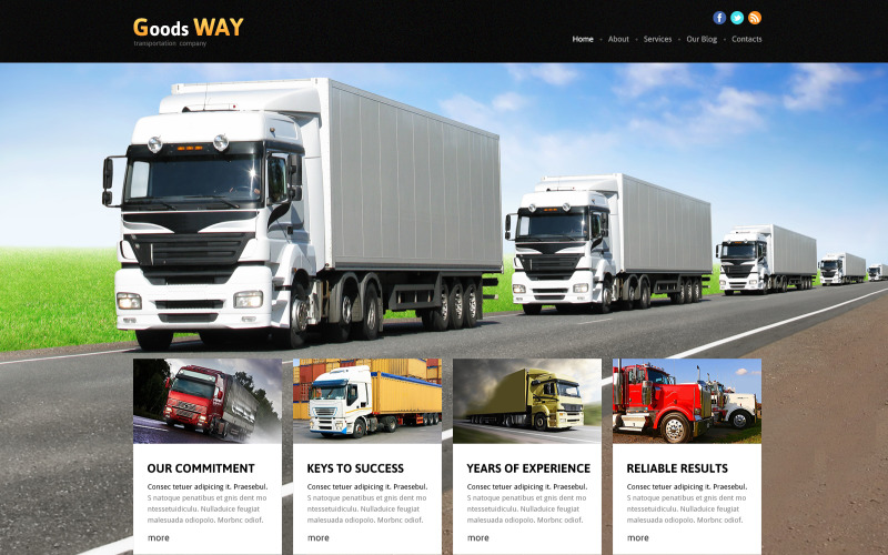 Bright Trucking Joomla Template