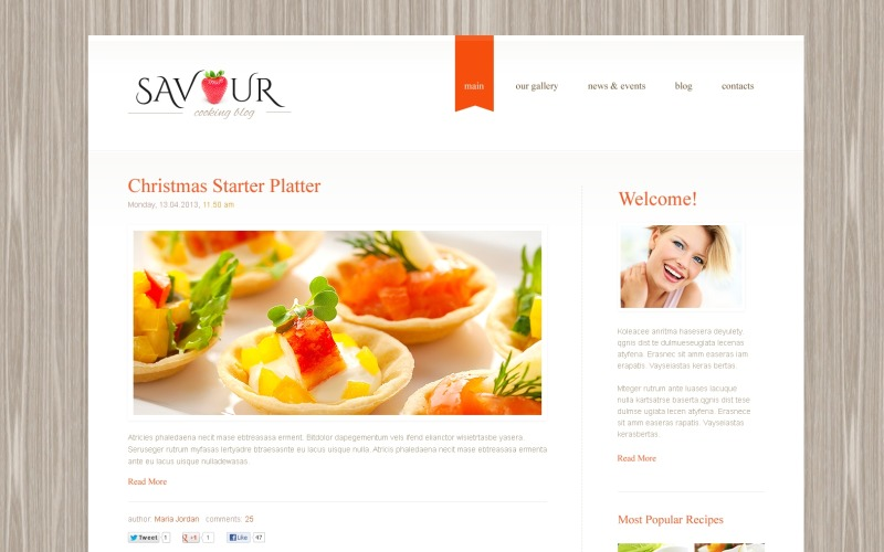 Clean Cooking WordPress Theme