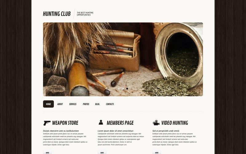 Duyarlı Avcılık WordPress Teması