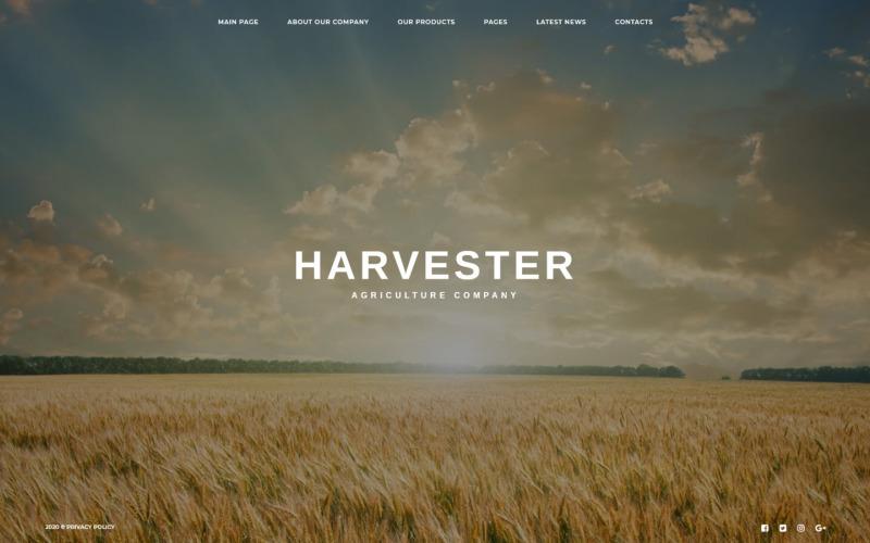 Joomla шаблон великого зображення сільського господарства