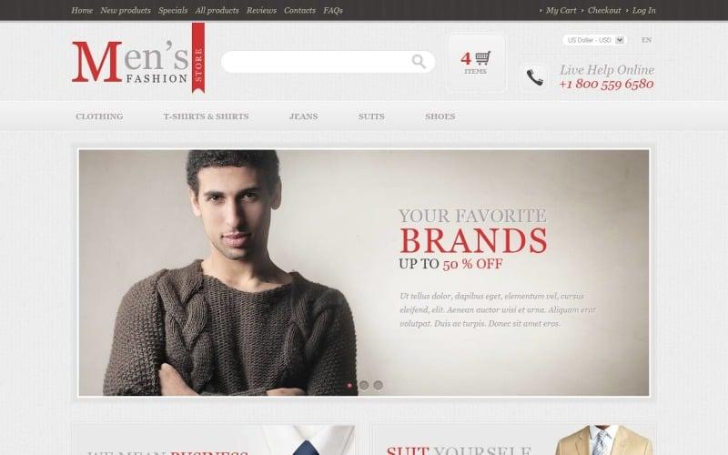 Mens Fashion Store ZenCart Template