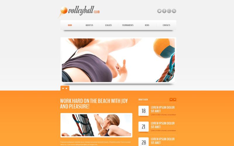 Modèle Drupal de club de volleyball