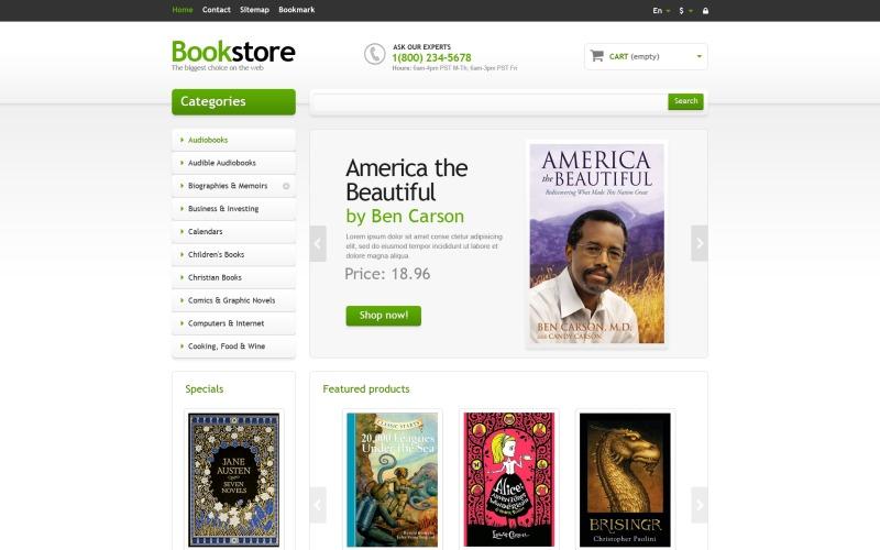 Responsive Books Store PrestaShop Theme