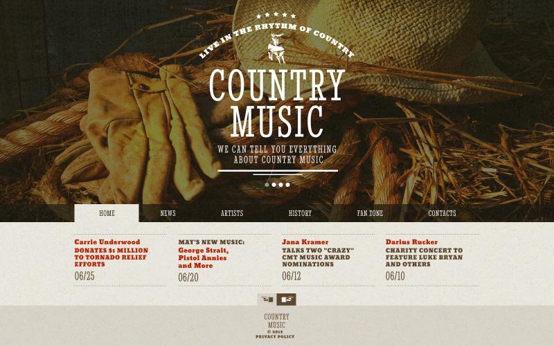 Шаблон веб-сайту музичного гурту