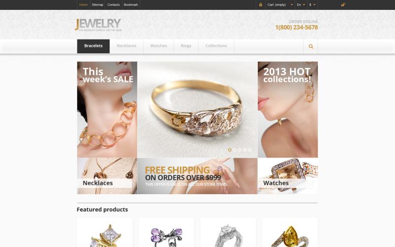 Responsive Jewelry Store PrestaShop Theme