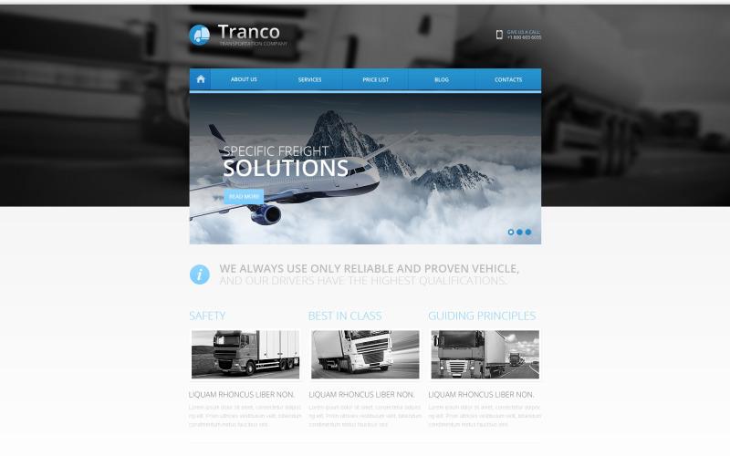 Responsive Website-Vorlage für den Transport