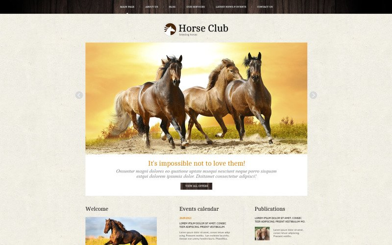 Pro Theme for Horse Business Joomla Template
