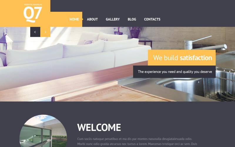 Responsive Website-Vorlage für Innenarchitektur